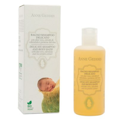 BABY DELICATE SHAMPOO AND BODY BATH, 250 ml – Anne Geddes Bio