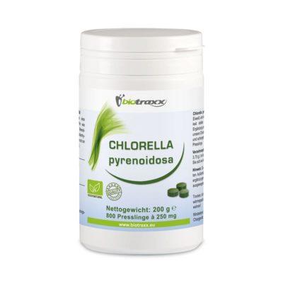 Biotraxx Chlorella pyrenoidosa 200g – 800 tabs