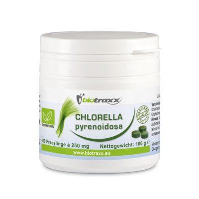 Biotraxx Chlorella pyrenoidosa 100g – 400 tabs